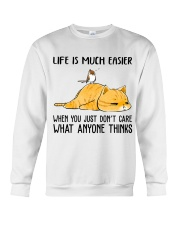 Life Is Much Easier Crewneck Sweatshirt thumbnail