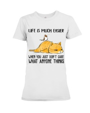 Life Is Much Easier Premium Fit Ladies Tee thumbnail