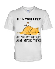 Life Is Much Easier V-Neck T-Shirt thumbnail
