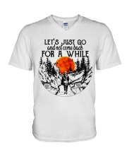 Lets Just Go V-Neck T-Shirt thumbnail