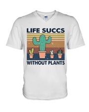Life Succs Without Plants V-Neck T-Shirt thumbnail