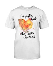 Loves Chickens Classic T-Shirt thumbnail