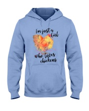Loves Chickens Hooded Sweatshirt front