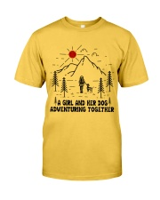 A Girl And Her Dog Classic T-Shirt front