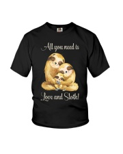 All You Need Is Love And Sloth Youth T-Shirt thumbnail
