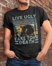 Live Ugly Fake Your Death Classic T-Shirt apparel-classic-tshirt-lifestyle-26