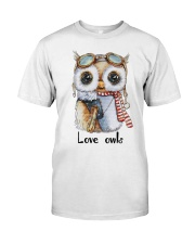 Love Owls Classic T-Shirt front