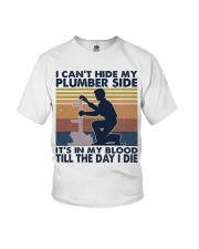 I Can't Hide My Plumber Side Youth T-Shirt thumbnail