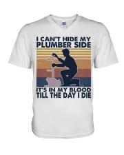 I Can't Hide My Plumber Side V-Neck T-Shirt thumbnail