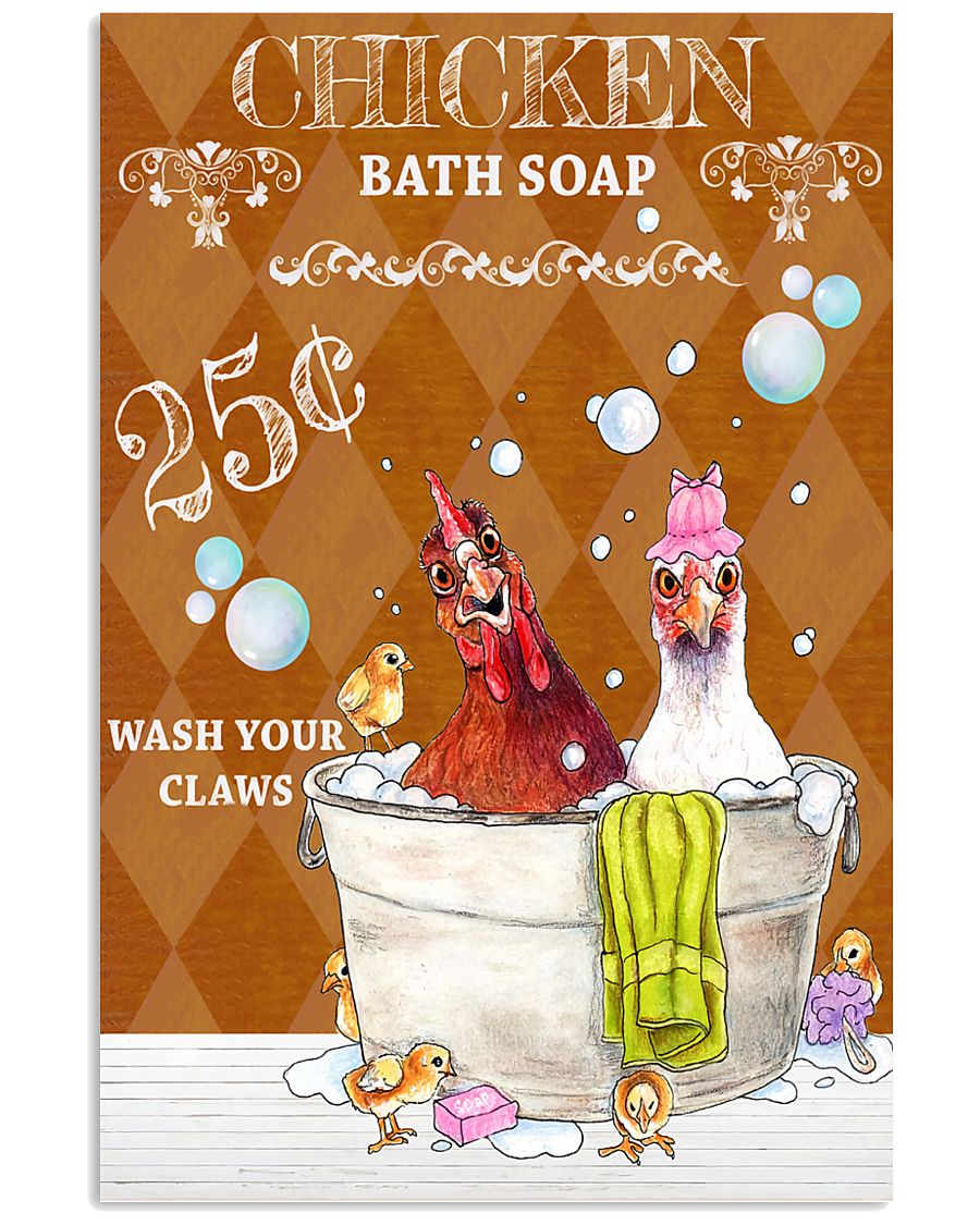 Chicken Bath Soap 11x17 Poster