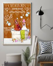Chicken Bath Soap 11x17 Poster lifestyle-poster-1