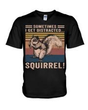 Sometimes I Get Distracted V-Neck T-Shirt thumbnail