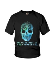 And Into The Forest I Go Youth T-Shirt tile