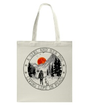 A Girl And Her Dog Tote Bag thumbnail
