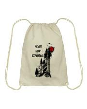 Never Stop Explore Drawstring Bag thumbnail