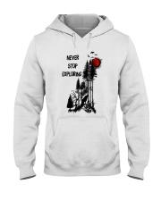 Never Stop Explore Hooded Sweatshirt front