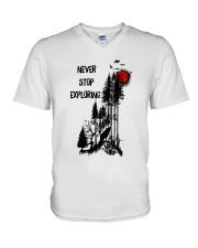 Never Stop Explore V-Neck T-Shirt thumbnail