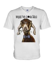 Relax I've Coat This V-Neck T-Shirt thumbnail