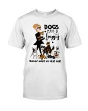 Dogs Make Me Happy Premium Fit Mens Tee thumbnail