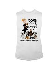 Dogs Make Me Happy Sleeveless Tee thumbnail