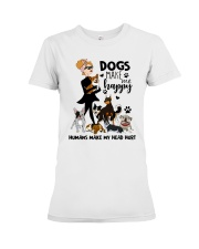 Dogs Make Me Happy Premium Fit Ladies Tee thumbnail