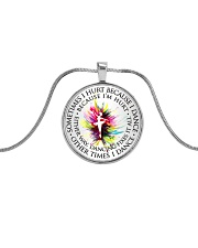 Dancing Fixes It All Metallic Circle Necklace front