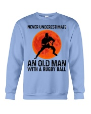An Old Man With A Rugby Ball Crewneck Sweatshirt thumbnail