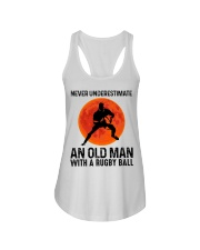 An Old Man With A Rugby Ball Ladies Flowy Tank thumbnail