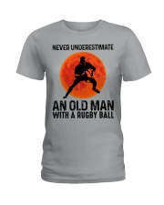 An Old Man With A Rugby Ball Ladies T-Shirt thumbnail