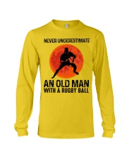 An Old Man With A Rugby Ball Long Sleeve Tee thumbnail