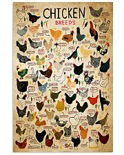 Chicken Breeds 11x17 Poster front