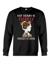 By Brain Is Proudly Crewneck Sweatshirt thumbnail