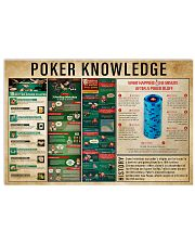 Poker Knowledge 17x11 Poster front