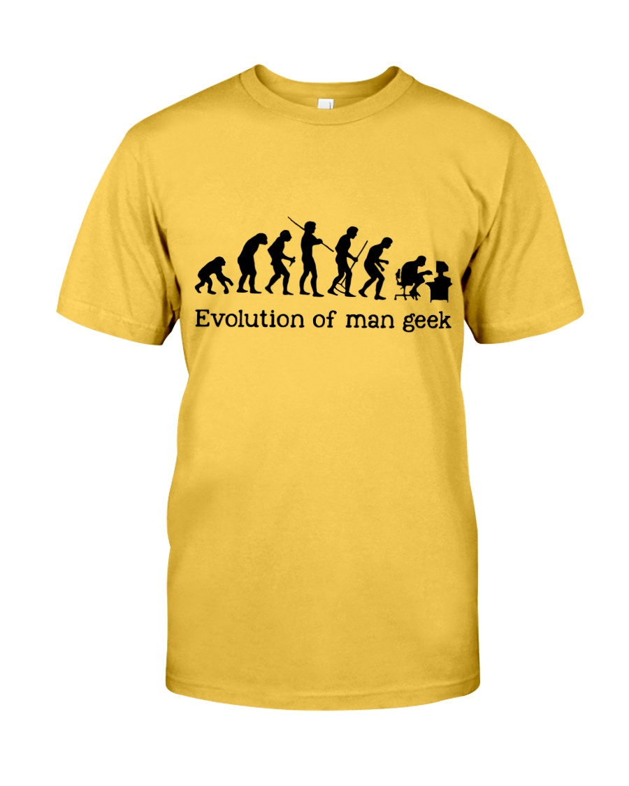 Evolution Of Man Geek Classic T-Shirt