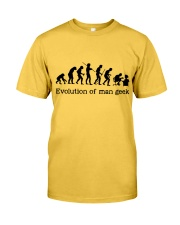 Evolution Of Man Geek Classic T-Shirt front