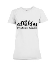 Evolution Of Man Geek Premium Fit Ladies Tee thumbnail