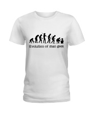 Evolution Of Man Geek Ladies T-Shirt thumbnail