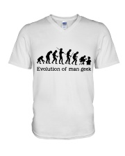 Evolution Of Man Geek V-Neck T-Shirt thumbnail