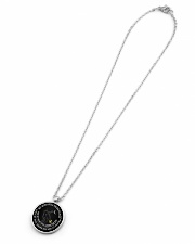 My mind still talks to you Metallic Circle Necklace aos-necklace-circle-metallic-lifestyle-06