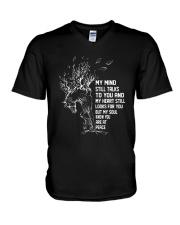 My Mind Still Talks To You V-Neck T-Shirt thumbnail