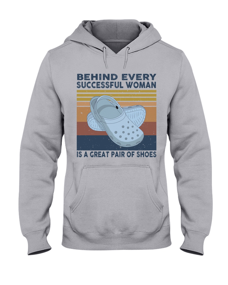 Behind Every Succesful Woman Hooded Sweatshirt
