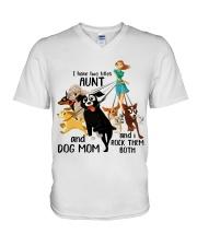 I Have Two Tittles Aunt V-Neck T-Shirt thumbnail