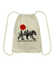 Always Take The Scenic Route Drawstring Bag thumbnail