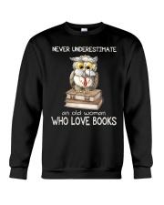 An Old Woman Who Love Books Crewneck Sweatshirt thumbnail