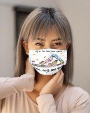 Life Is Better With Yoga Cloth face mask aos-face-mask-lifestyle-18