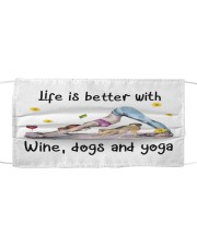 Life Is Better With Yoga Cloth face mask front