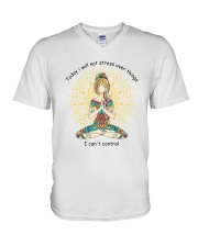 Will Not Stress V-Neck T-Shirt thumbnail