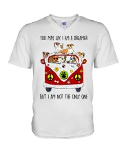 Staffordshire Bull Terrier V-Neck T-Shirt thumbnail
