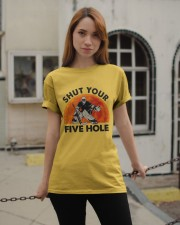 Shut Your Five Hole Classic T-Shirt apparel-classic-tshirt-lifestyle-19