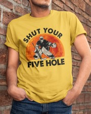 Shut Your Five Hole Classic T-Shirt apparel-classic-tshirt-lifestyle-26